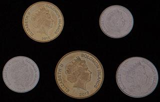 Соломоновы острова. Лот из монет 2012 г. 5 шт.