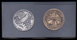 Лот из медалей «СССР-США Мир и Дружба». Металл белого и желтого цветов