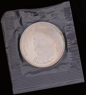Рубль 1990 г. «125 лет со дня рождения Яниса Райниса». Медно-цинково-никелевый сплав. В защитной упаковке монетного двора