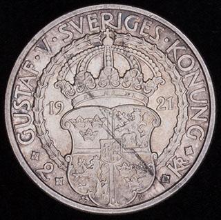 Швеция. 2 кроны 1921 г. «400 лет Войне за Независимость». Серебро
