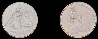 Норвегия. Лот из 5 крон 1975-1996 гг. 2 шт.