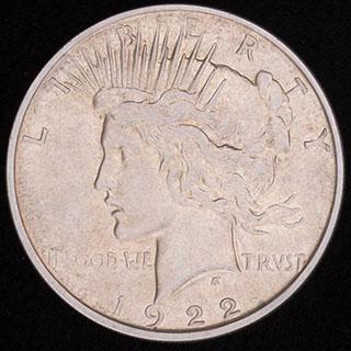 США. 1 доллар 1922 г. «Peace Dollar». Серебро