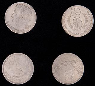 Лот из памятных рублей 1981-1986 гг. 4 шт.