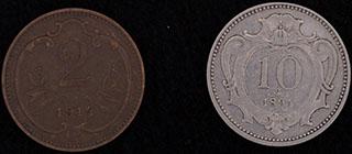 Австрия. Лот из монет 1894-1917 гг. 2 шт.