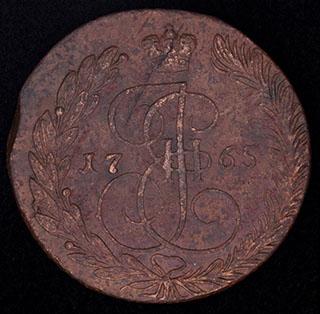 5 копеек 1765 г. ЕМ. Медь