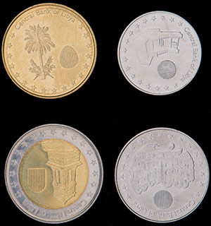 Ливия. Лот из монет 2014 г. 4 шт.