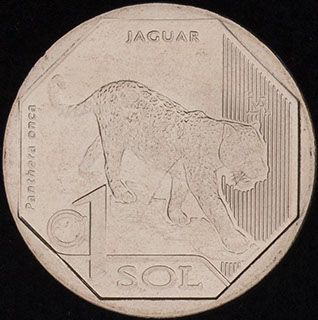 Перу. 1 соль 2018 г. «Ягуар». Медно-цинково-никелевый сплав