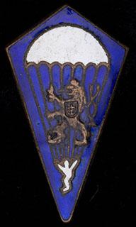 Чехословакия. Знак парашютиста. Бронза, эмаль. Оригинальная закрутка утрачена
