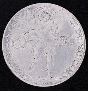 Ватикан. 50 чентезимо 1941 г. Сталь