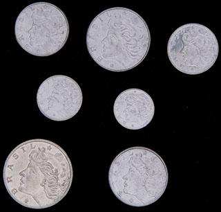 Бразилия. Лот из монет 1969-1978 гг. 7 шт.