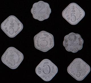 Индия. Лот из монет 1966-1981 гг. 8 шт.