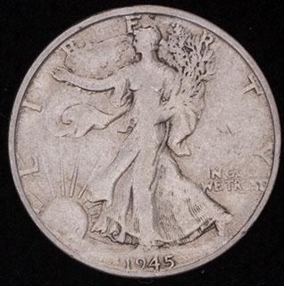 США. 1/2 доллара 1945 г. Серебро