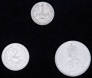 Венгрия. Лот из монет 1942-1943 гг. 3 шт.