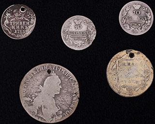 Лот из монет 1785-1830 гг. 5 шт.
