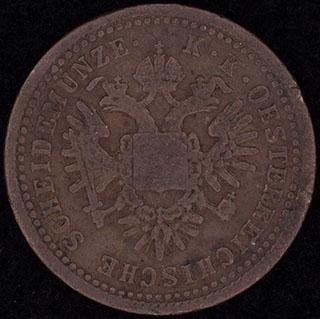 Австрия. 1 крейцер 1851 г. Медь
