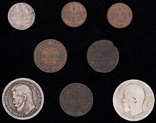 Лот из монет 1797-1914 гг. 8 шт.