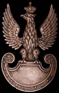 Польша. Шеврон сухопутных войск. II половина ХХ в. Бронза, серебрение