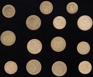 Дания и Швеция. Лот из монет 1989-2006 гг. 14 шт.