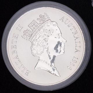 Австралия. 1 доллар 1994 г. Серебро. Proof