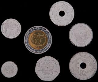 Папуа Новая Гвинея. Лот из монет 2004-2010 гг. 7 шт.