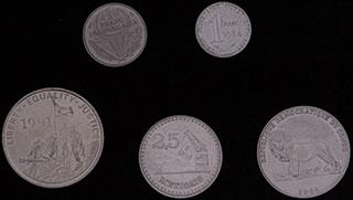 Лот из монет стран Африки 1966-2004 гг. 5 шт.