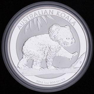 Австралия. 1 доллар 2016 г. «Коала». Серебро