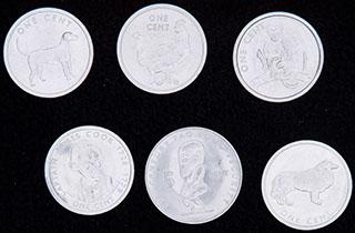 Острова Кука. Лот из монет 2000-2003 гг. 6 шт.