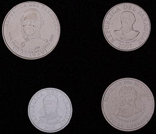 Парагвай. Лот из монет 2007-2016 гг. 4 шт.