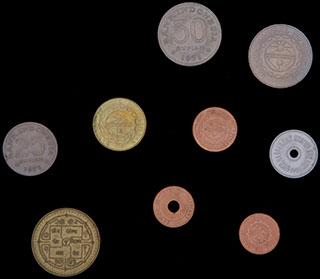 Лот из иностранных монет 1959-2005 гг. 9 шт.
