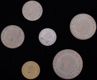 Испания. Лот из монет 1975 г. 6 шт.