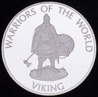 Конго. 10 франков 2009 г. «Викинг». Медь, серебрение. Proof