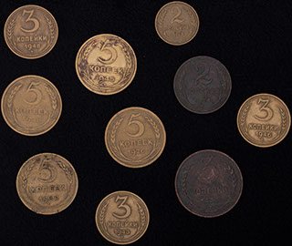 Лот из монет 1924-1948 гг. 10 шт.