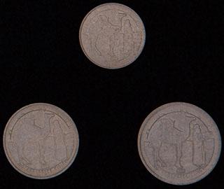 Западная Сахара. Лот из монет 1992 г. 3 шт.