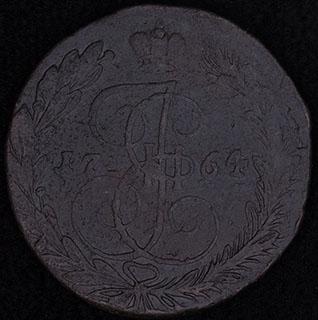5 копеек 1764 г. ЕМ. Медь