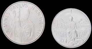 Ватикан. Лот из монет 1983-1984 гг. 2 шт.