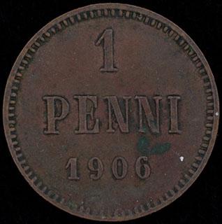 1 пенни 1906 г. Медь