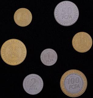 Центральная Африка. Лот из монет 2006 г. 7 шт.