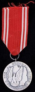 Польша. «За заслуги. 2 степень». Бронза, серебрение. С оригинальной лентой