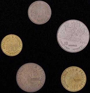 Сан-Томе и Принсипи. Лот из монет 1977-1990 гг. 5 шт.