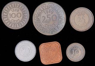 Суринам. Лот из монет 1989 г. 6 шт.