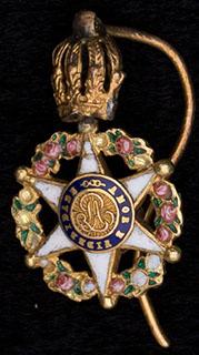 Бразилия. Фрачный знак ордена Розы. Серебро, позолота, эмаль