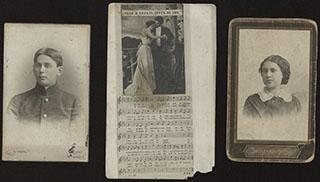 Лот из фотографий и открытки, принадлежавших семье Скальских. 3 шт.