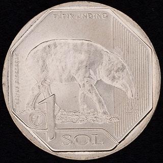 Перу. 1 соль 2018 г. «Горный тапир». Медно-цинково-никелевый сплав