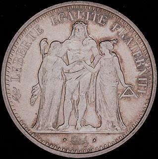 Франция. 10 франков 1968 г. Серебро