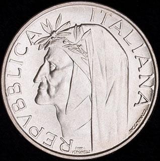 Италия. 500 лир 1965 г. Серебро