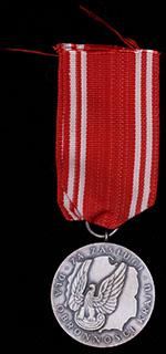 Польша. Медаль за заслуги. Металл белого цвета. С оригинальной лентой