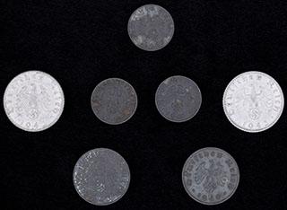 Германия. Лот из монет 1940-1943 гг. 7 шт.