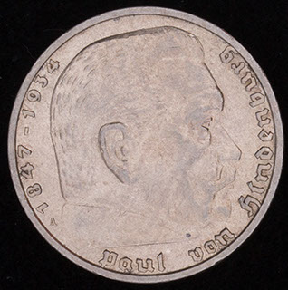 Германия. 5 рейхсмарок 1937 г. Серебро