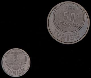 Тунис. Лот из монет 1950-1954 гг. 2 шт.