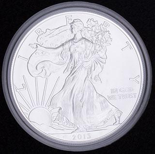 США. 1 доллар 2013 г. «Шагающая Свобода». Серебро